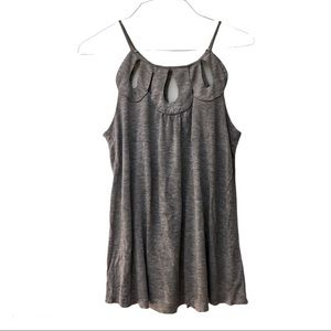 💕3/$25 Forever 21 grey keyhole tank top size M
